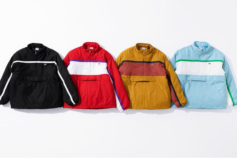 Supreme x Lacoste Fall 2019 Collection green crocodile collaboration Pique Long Sleeve Polo Wool Bomber Jacket Hooded Sweatshirt Messenger Bag Beanie