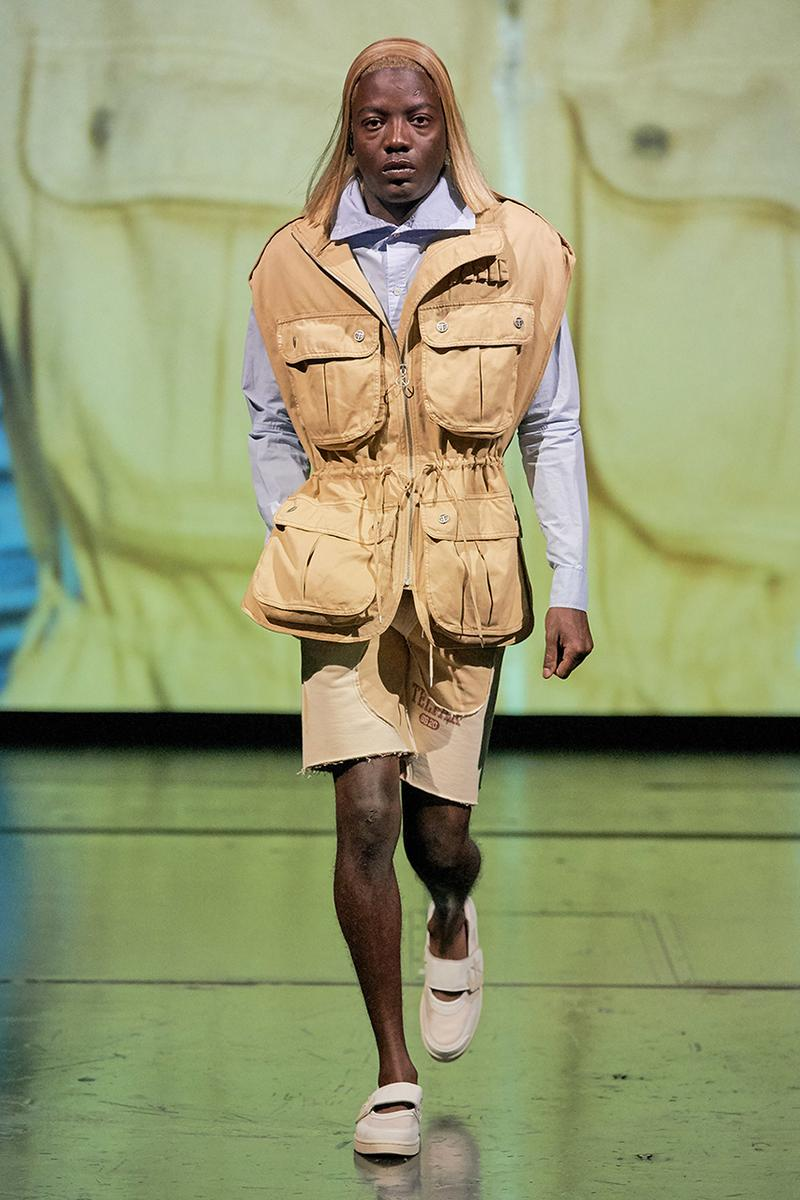 Telfar Clemens Spring/Summer 2020 Paris Fashion Week Runway Collection Menswear Womenswear Showcase Looks Images Gallery Ready-to-Wear Military Rock 'n' Roll Babak Radboy