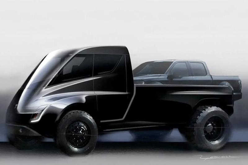 Tesla Pickup Truck Reveal Pushed Back November Elon Musk futuristic blade runner science fiction cyberpunk titanium semi automotive automobile