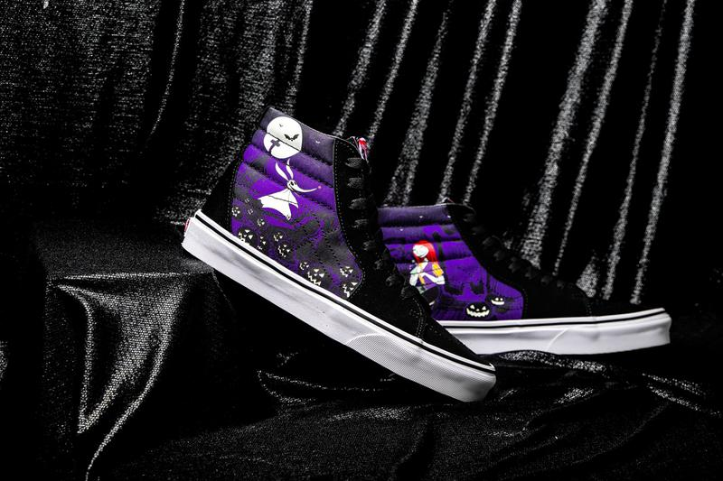 the nightmare before christmas vans collaboration sneaker vn0a4bv3t4v vn0a4bv5tpj vn0a4bv6t35 vn0a3wm7te1 sk8 hi old skool slip on authentic comfycush jack skellington disney collaboration colorway release date october 2019
