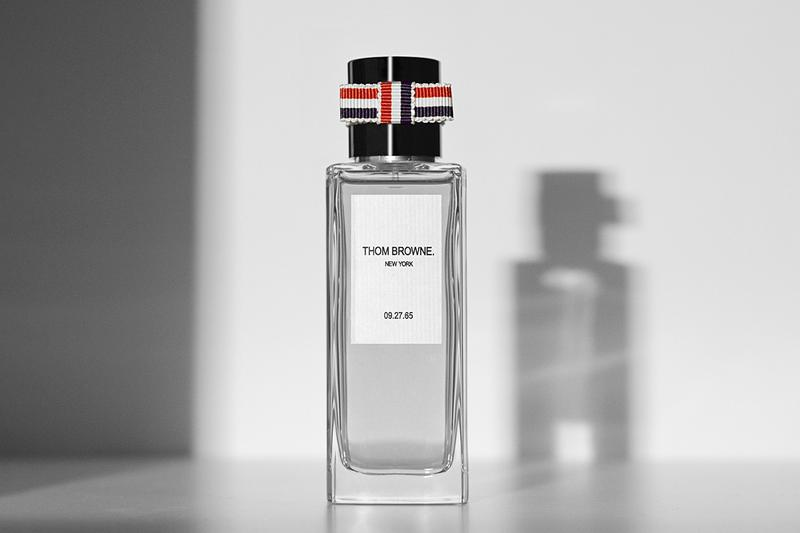 Thom Browne Inaugural Fragrance Line Gender Neutral Vetyver Extracts Cucumber 01 Grapefruit 02 Rose 03 Daytime Whiskey 04 Smoke 05 Nighttime 09.27.65 perfume scent