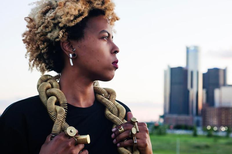 tiff massey detroit artist jewelry metalsmithing dont touch my hair red bull arts detroit residency exhibition spring 2019