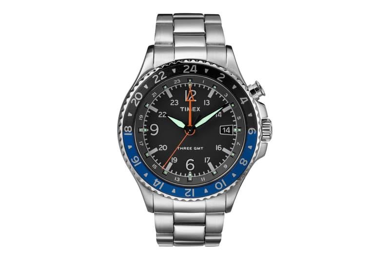 Timex Allied Three GMT Batman Alternative Release Info Buy Black Blue Rolex Stainless Steel