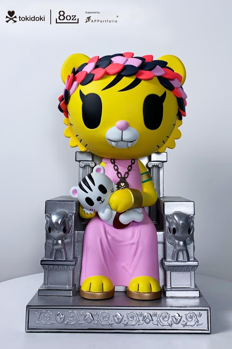 tokidoki 8oz Salaryman Tiger Figures Male Female APPortfolio Silver Metallic Throne Yellow White Green Pink Simone Legno