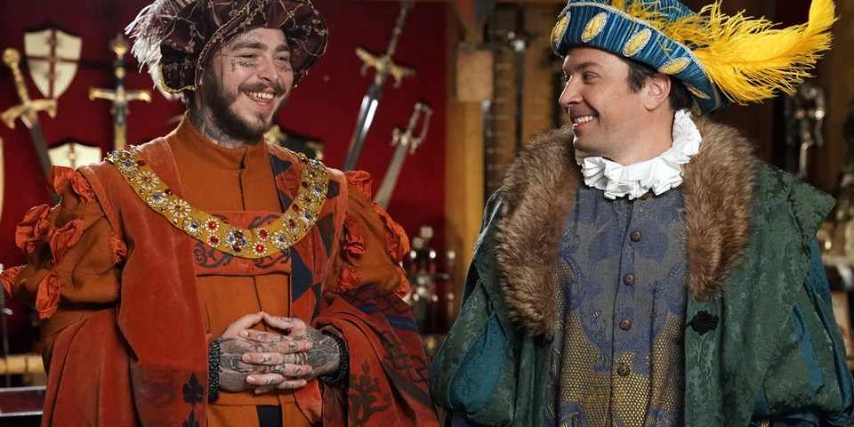 Watch Post Malone & Jimmy Fallon Try Knighthood Out at Medieval Times