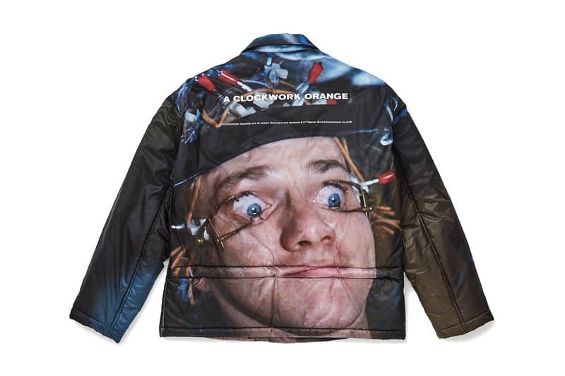 UNDERCOVER A CLOCKWORK ORANGE Stanley Kubrick 1971 Jacket Alex Malcolm McDowell puffer top outerwear insulated eye clamp scene