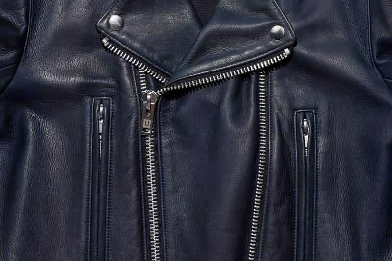 UNDERCOVER Double Zip Biker Jacket black navy leather thick motorcycle punk undercoverism for rebels undercover laboratories jun takahashi