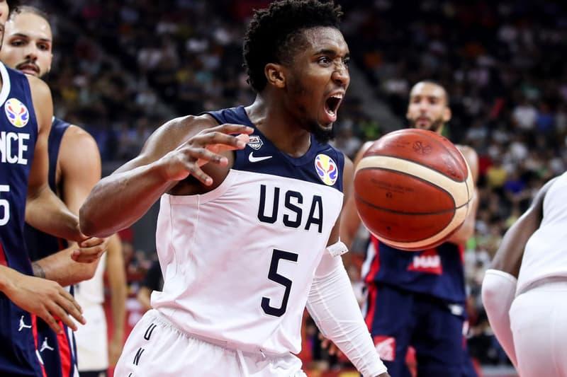 USA Basketball Exits FIBA World Cup Quarterfinals Losing to France Championship Rudy Gobert Evan Fournier Donovan Mitchell