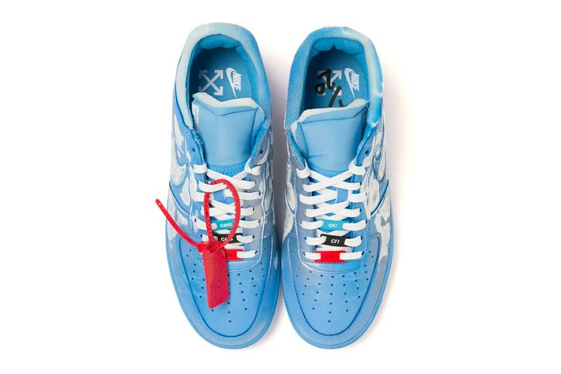 Virgil Abloh x MCA Chicago x Cassius Hirst x Nike AF1 Collab limited edition 20 pairs drop date release info price custom $3000 usd Church & State Pop-up Figures of Speech