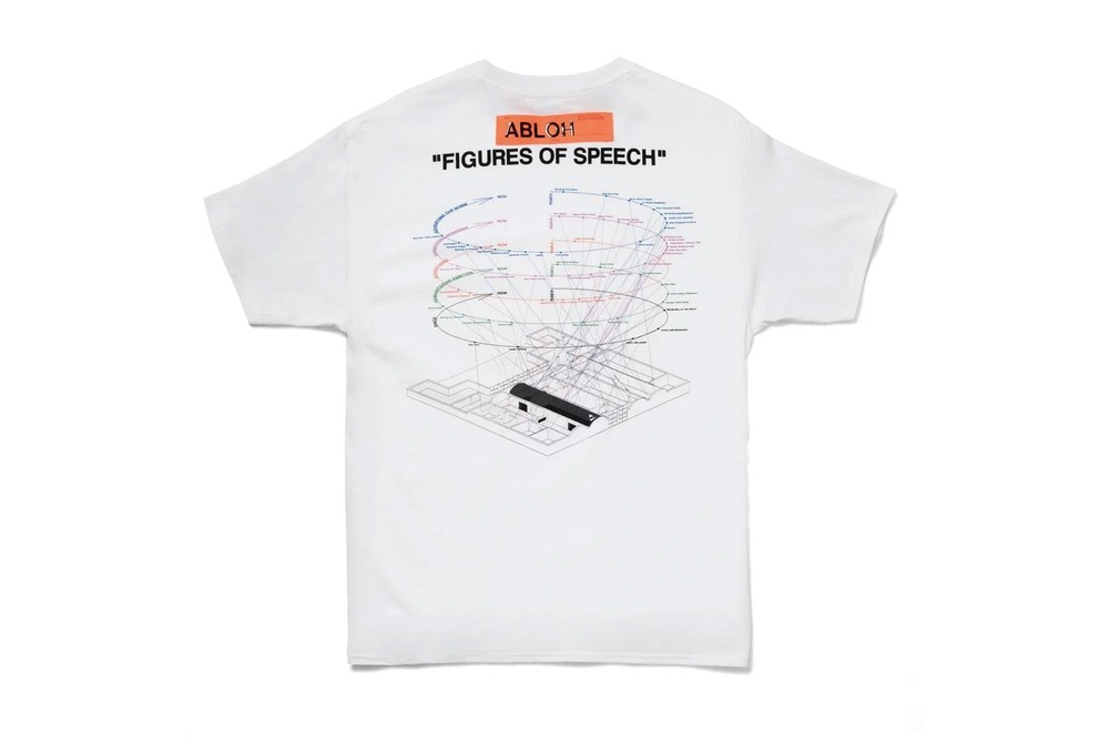 """Virgil Abloh x MCA Chicago exclusive FOS T-Shirts Release Info drop date price off white lime green black white hyperbole graphic tees champion """"I have a million things to do today"""""""
