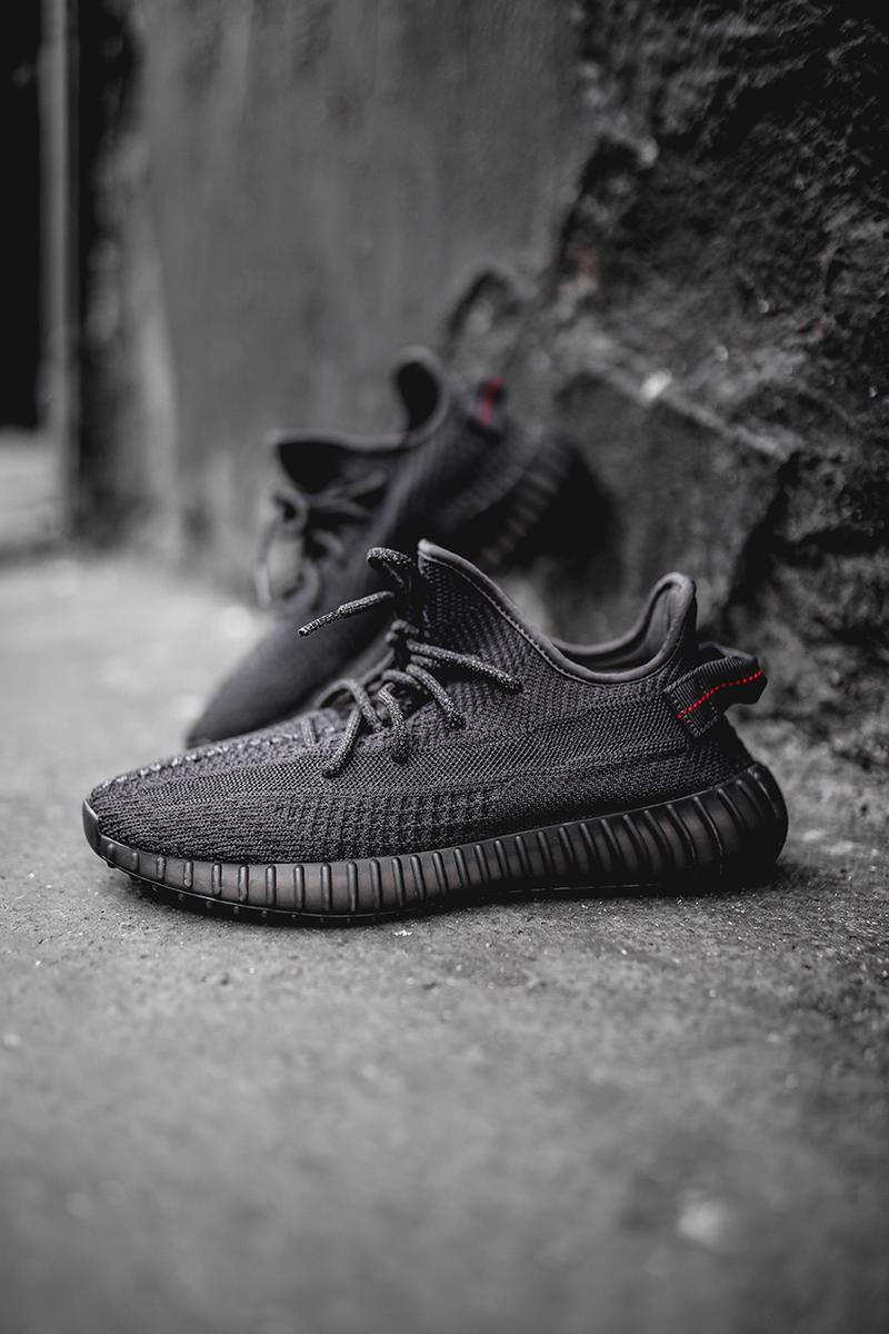 YEEZY BOOST 350 V2 Black Friday Re Release adidas originals Kanye West triple black november 29 sneaker footwear shoes primeknit