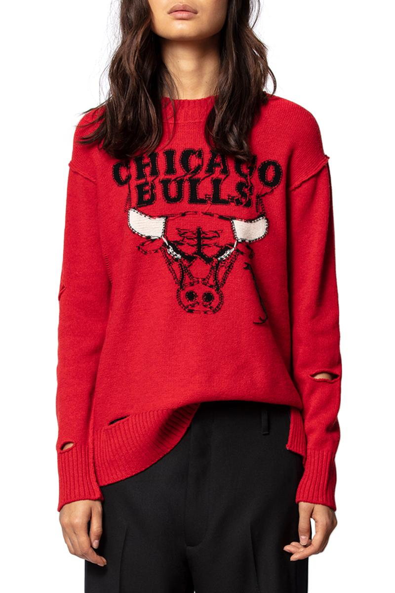 Zadig Voltaire NBA Collection Teaser Lookbook Collaboration The Tunnel Lakers Grizzles Bulls destroyed sweaters womens tank tops jewerly cecile fricker cecila bonstrom thierry gillier sporty fall winter 2019