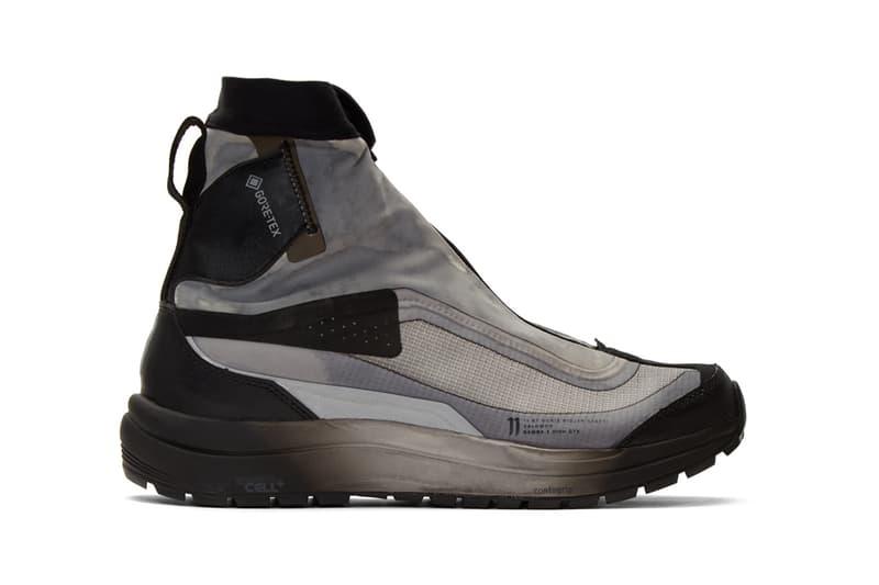 11 by boris bidjan saberi patina Green Salomon Edition 2 GTX 11XS Boots gore tex boot ankle high panelled nubuck suede textile