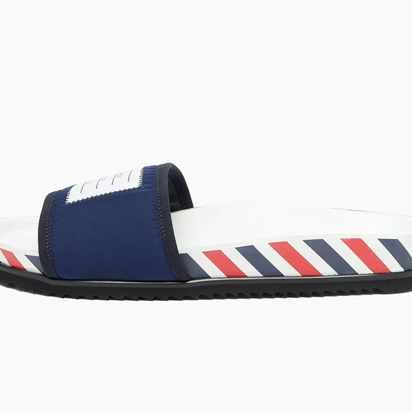 Thom Browne Tricolor-Striped Slide Sandals