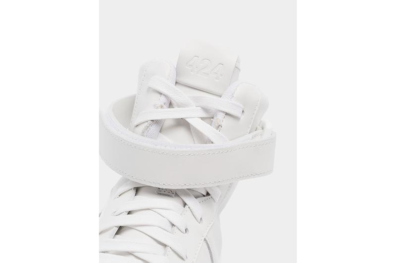 424 Dipped Leather High Top Sneakers Release Information buy White Black Ankle Straps Hi-Top Sneaker-Boot Plastic Rubber Drip Avant Garde