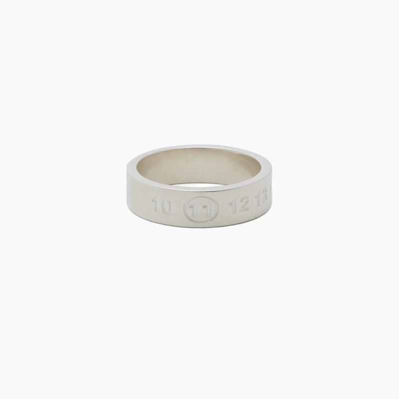 Maison Margiela Numbers Logo Engraved Sterling Silver Ring