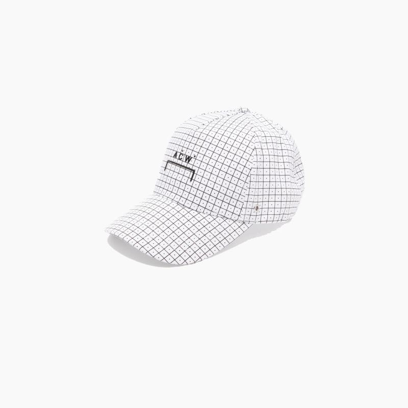 "A-COLD-WALL* ""Black/White"" Logo-patch Checked Baseball Cap"