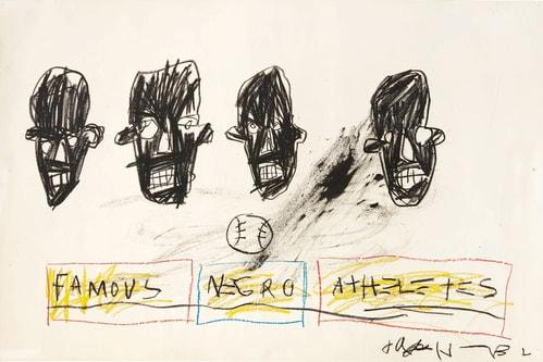 Jean-Michel Basquiat's 'Famous Negro Athletes' Set for Sotheby's Auction Next Month