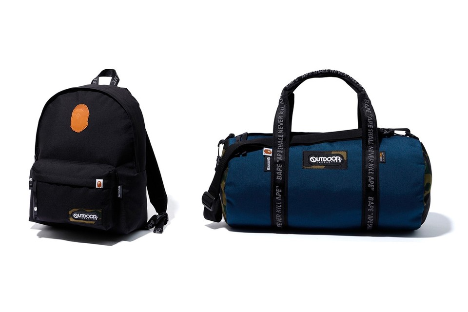 A Bathing Ape & Outdoor Products Release a Series of Travel-Friendly Bags