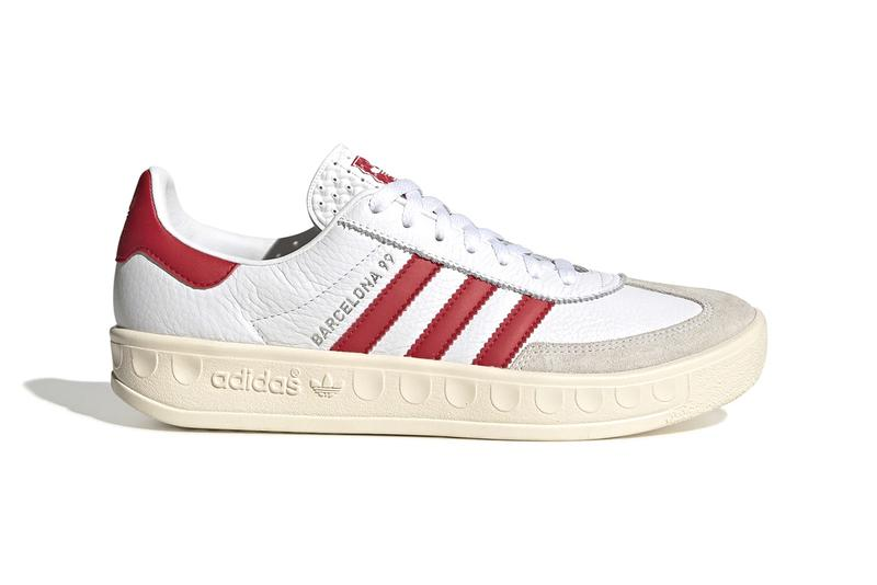 adidas originals manchester united barcelona 99 1999 champions league ole gunnar solksaer EH1565 release information red white grey scarlet cloud buy cop purchase order