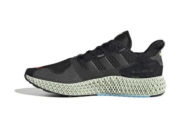 "adidas ZX 4000 4D ""I Want I Can"" ""Core Black/Hi-Res Yellow/Bright Cyan"" Sneaker Release Information Cop First Look Drop Footwear Three Stripes Light Liquid Resin Oxygen Sole Unit Torsion Original Campaign '80s"
