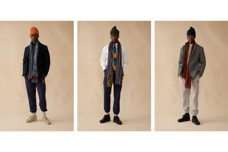 aime leon dore drakes fall winter 2019 capsule collection release london tailoring company new york based terry garments streetwear sweatpants blazers luxury fabrics wool tweed silk cotton