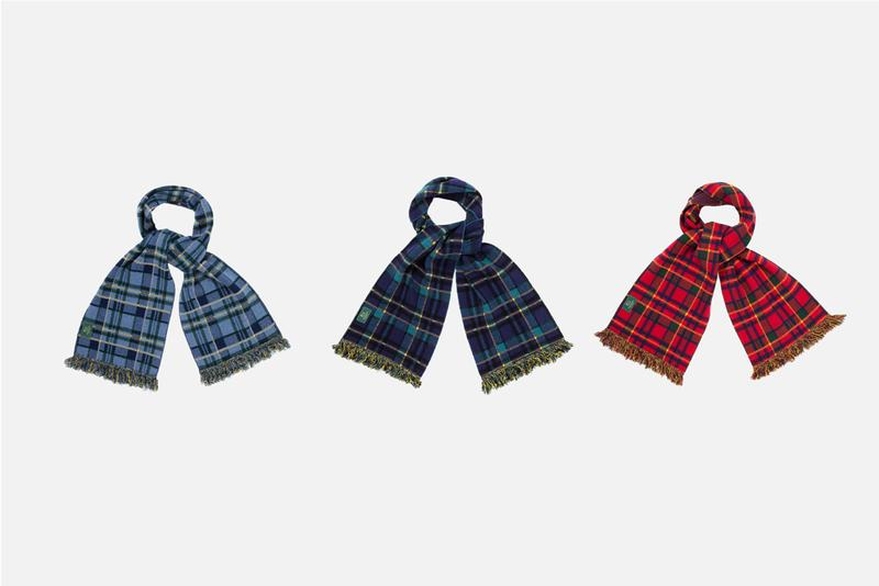 Woolrich Aimé Leon Dore Fall/Winter 2019 Capsule Collection Down Jackets Quilted Puffers Collar Button Downs Wool Knits Scarves Plaid Cardigans Work Vests Red Pink Green Brown White Blue Gray Yellow