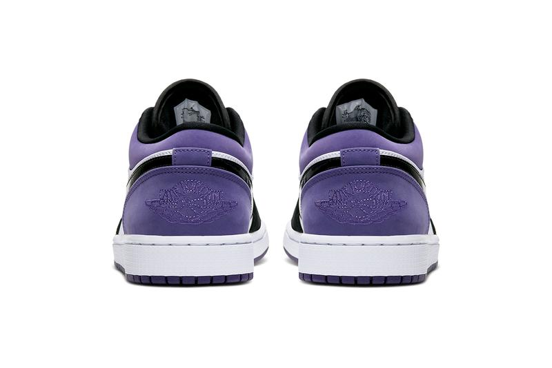 air jordan 1 low court purple black white 553558 125 nike swoosh jumpman