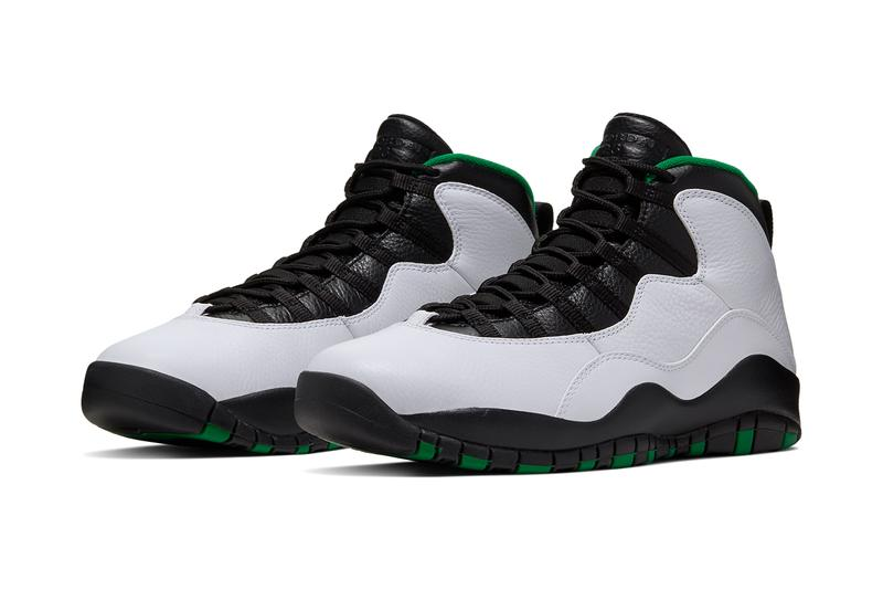 air jordan 10 seattle court green city series white black gold yellow super sonics supersonics