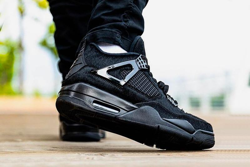 Air Jordan 4 Pony Hair On Foot Look Womens Black Cat Fur Release Info Date CK2925-001