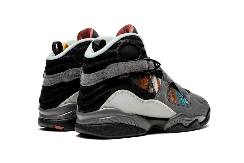 air jordan 8 pendleton nike n7 grey orange red black native american aboriginal print pattern CQ9601 001 Release Date indigenous people
