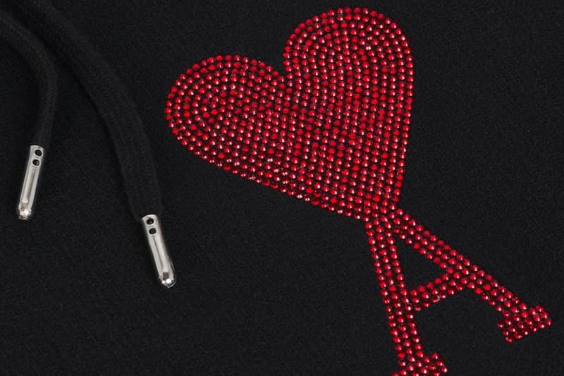 Ami de Coeur Shanghai Collection Release Red Swarovski Crystals hoodies shirts tee T-Shirts Sweatshirts black