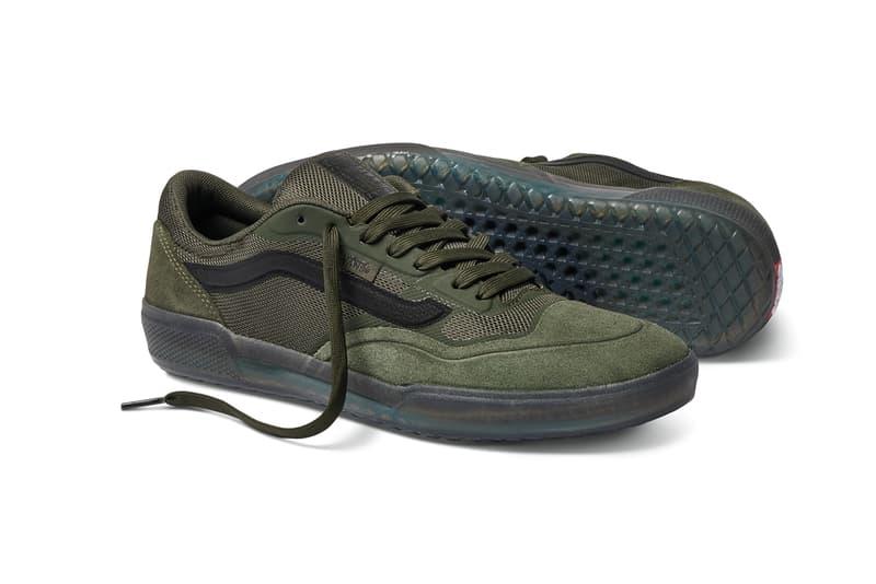 anthony van engelen eve ave pro dark green black skateboarding skate shoes