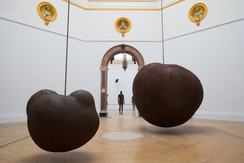 antony gormley royal academy of arts london exhibition sculptures artworks
