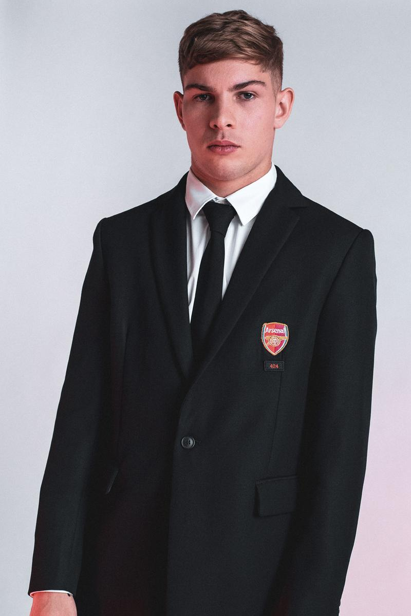 Arsenal 424 Official Formal Wear Partnership Black Suits Ties Shirts White