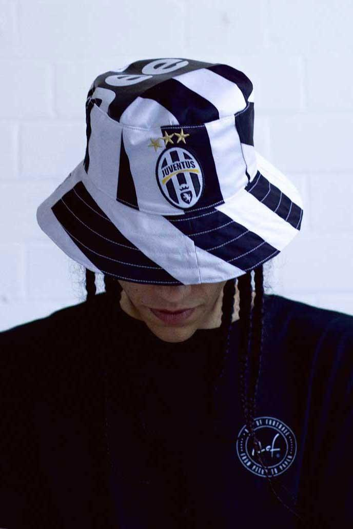 Art of Football Bucket Hat Collection sustainability football soccer jersey kits juventus arsenal manchester united liverpool repurpose