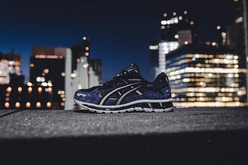 "ASICS ""Midnight Blue"" Pack GEL-NIMBUS 21 GEL-KAYANO 5 GEL-LYTE 5 V Black Navy Colorways Sneaker Release Information Contrasting Suede Leather Silver FLYTEOAM Propel technology"