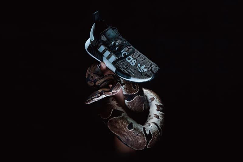 atmos adidas NMD R1 Snakeskin Green & Grey Release Dates