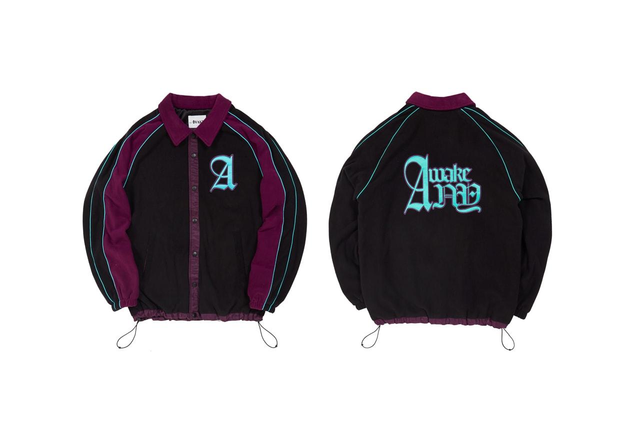 awake ny fall winter fw 19 angelo baque hoodie cardigan jacket tee beanie hat tshirt streetwear sweatpants stickers
