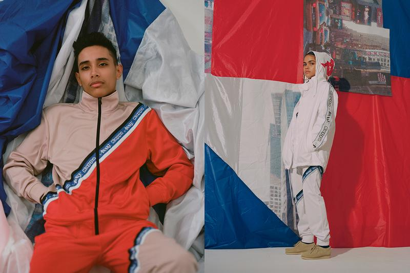Awake NY x Kappa Fall/Winter 2019 Capsule Collection Dover Street Market Ginza Pre-Release Global Announcement Sportswear Retro '90s 1990 tracksuit bucket hat soccer stadium jacket football jersey Procell