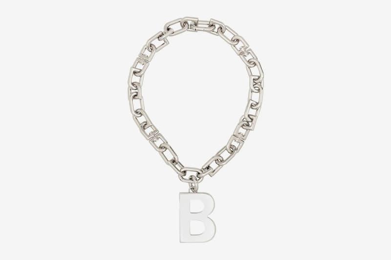 Balenciaga B Chain Necklace Release Info Date Silver Buy demna gvasalia