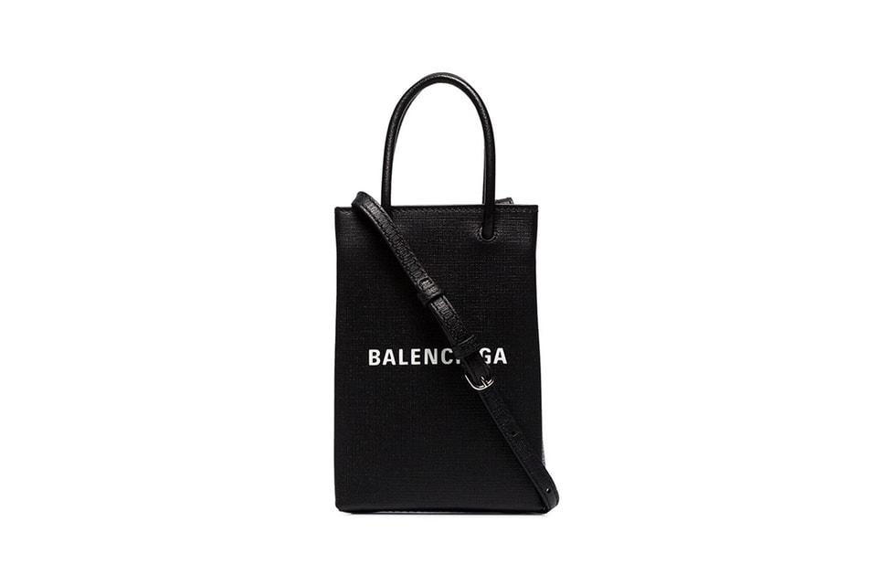 Balenciaga's Shopping Bag-Inspired Neck Pouch Doubles up as a Phone Carrier