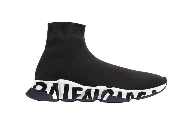 Balenciaga Speed Trainers Graffiti Release Info Buy Black White