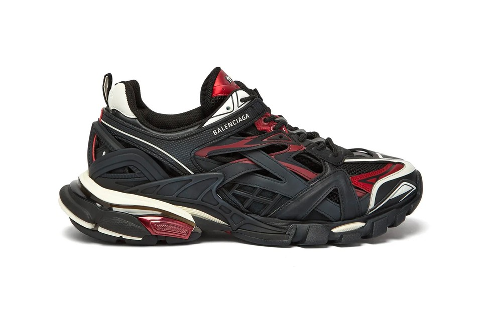 """Balenciaga's Track.2 Sneaker Arrives in a Bold """"Black/Red"""" Colorway"""