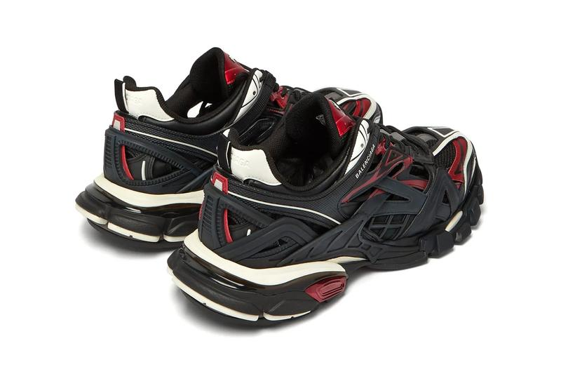 Balenciaga Track.2 Sneaker Black Red Release Info Buy demna gvasalia shoe white