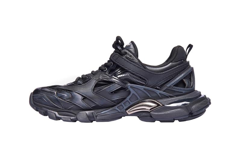 balenciaga track.2 trainers sneakers black blue colorway release fall winter 2019 176 panels nylon mesh non leather upper