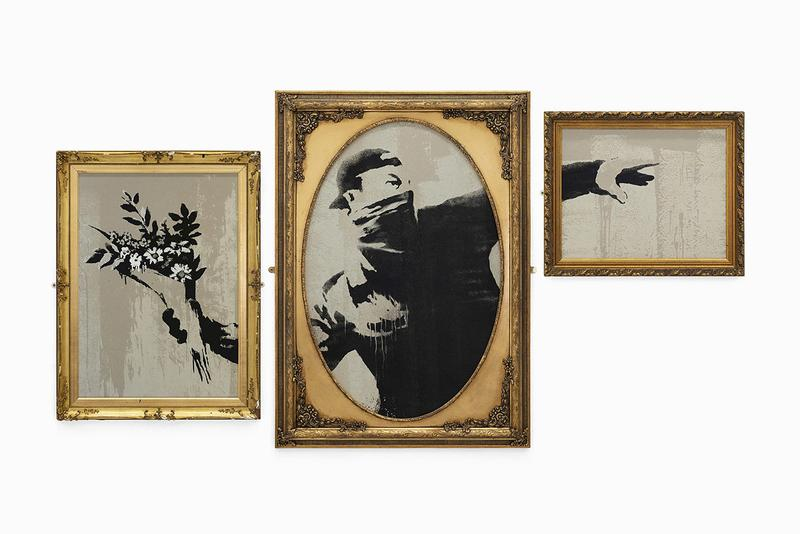 banksy gross domestic product online store homewares artworks collectibles editions prints paintings stencils