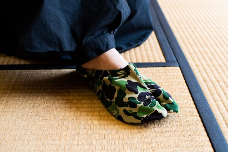 BAPE ABC CAMO Japanese Socks Release a bathing ape green footwear