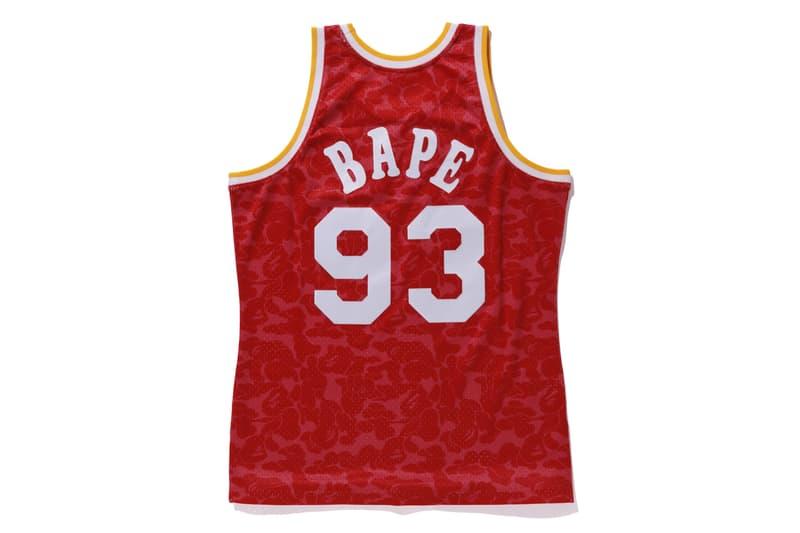 BAPE Releases New Mitchell & Ness NBA Jerseys Los Angles Lakers la Toronto raptors Houston Rockets NBA Japan Games 2019 basketball collaborations a bathing ape