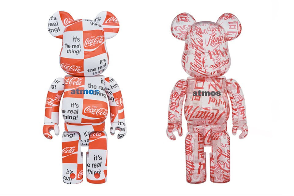 Medicom Toy & atmos Join Forces With Coca-Cola for Two Logo-Splattered BE@RBRICKs